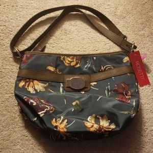 NWT Floral Round About Purse